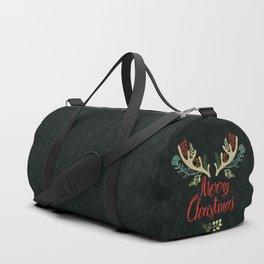 Green Deer horn Christmas Event Design Duffle Bag