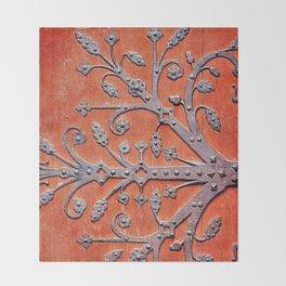 Gothic Red Door Throw Blanket