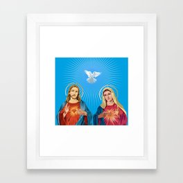 Jesus Christ and the Virgin Mary Framed Art Print