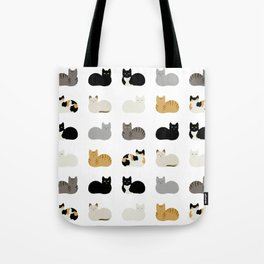 Cat Loaf 2 - White Ground Tote Bag