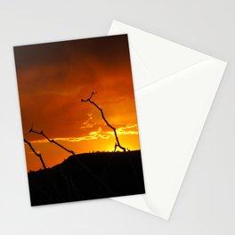 Desert Sky on Fire Stationery Cards