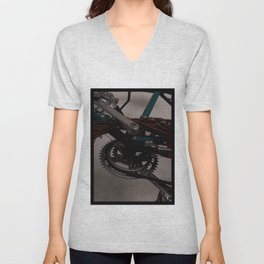 Bicycle Gears Unisex V-Neck