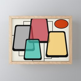 Mid-Century Modern Art Landscape 1.1 Framed Mini Art Print