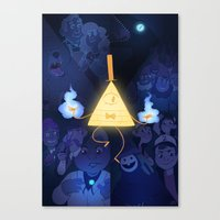 gravity falls Canvas Prints featuring Gravity Falls by Cátia Moreira