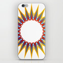 A large Colorful Christmas snowflake- holiday season gifts- Happy new year gifts iPhone Skin