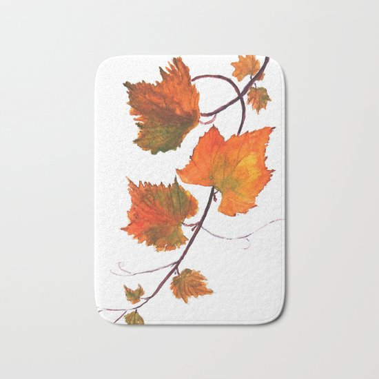 grapevine in autumn Bath Mat