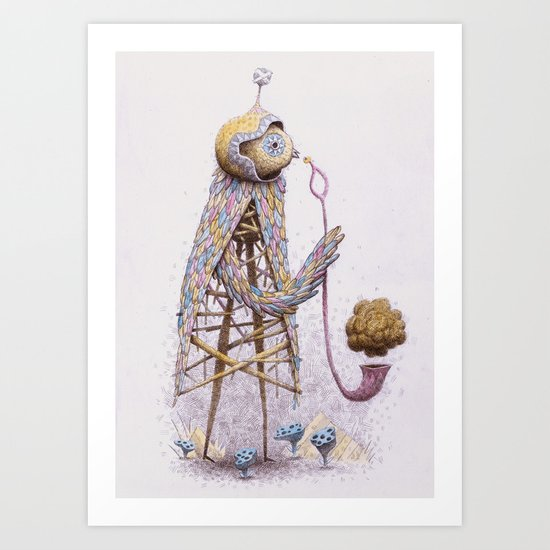 Pipe Bird Art Print
