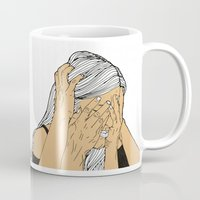 introvert Mugs featuring Introvert 9 by Heidi Banford