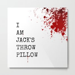 Jack's Throw Pillow Blood Metal Print