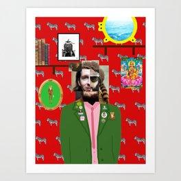 Wes Anderson illustration Art Print