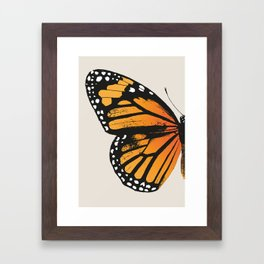 Monarch Butterfly | Left Wing Framed Art Print
