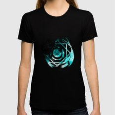 Wonderful Space Black Womens Fitted Tee SMALL