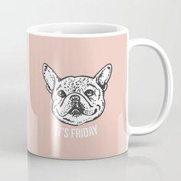 Smile It's Friday Frenchie Coffee Mug