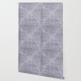 Ink Weaves: White Quartz Wallpaper