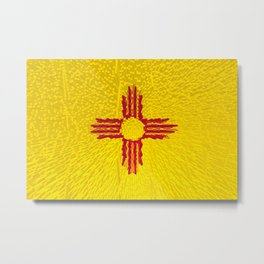 Extruded flag of New Mexico Metal Print