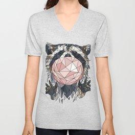 polygonal raccoon Unisex V-Neck