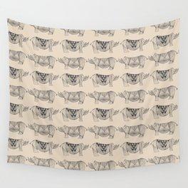 Rhino Lines Wall Tapestry