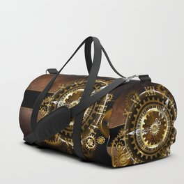 Steampunk Clock with Gears Duffle Bag