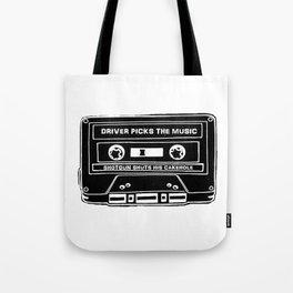 Driver Picks The Music Tote Bag
