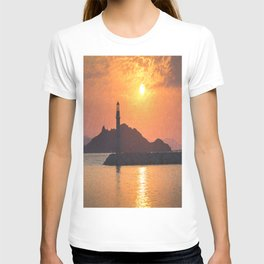 Lighthouse Evening Art T-shirt