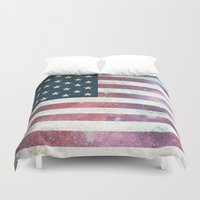 patriotic Duvet Covers featuring PATRIOTIC by alfboc