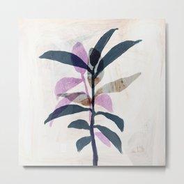 Simple Leaves Metal Print