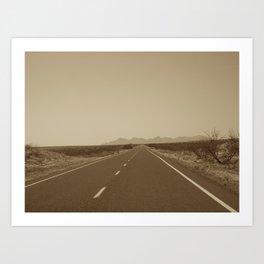 the road to Marfa Art Print