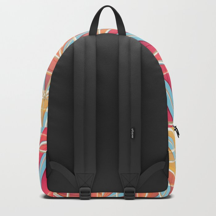 From pink to yellow pattern Backpack