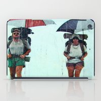 hiking iPad Cases featuring Rain Hiking by Fallon Chase