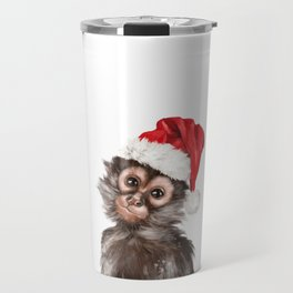 Christmas Baby Monkey Travel Mug
