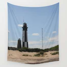 Short And Tall Cape Henry Lights Wall Tapestry