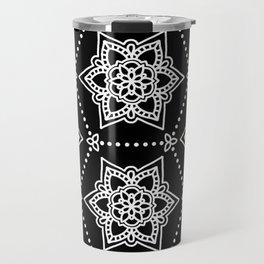 White Mandalas Travel Mug