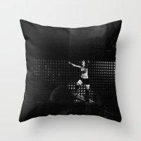 paramore Throw Pillows featuring Monumentour, 2014 by Danielle Doepke