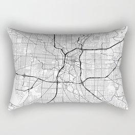 San Antonio Map White Rectangular Pillow