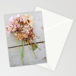 Shabby chic pink geranium Stationery Cards