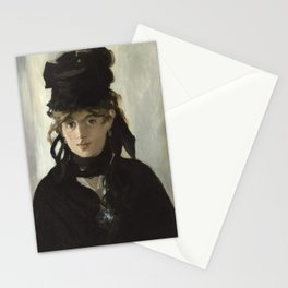 Edouard Manet - Young woman in a black hat Stationery Cards