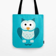 Minimal Owl Blue Tote Bag