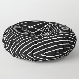 Line Complex Dark Triangle Floor Pillow