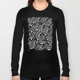 White Olive Branches Long Sleeve T-shirt
