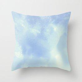 White Foam Plastic Texture Throw Pillow