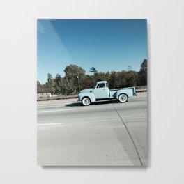 Powder blue pickup truck Metal Print