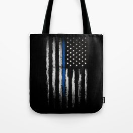 Thin Blue line Tote Bag