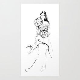 Elie Saab Sketch Art Print