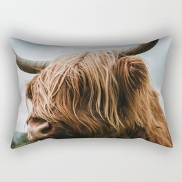 Scottish Highland Cattle - Animal Photography Rectangular Pillow