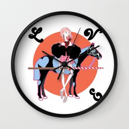 Ready to  Gallop! Wall Clock