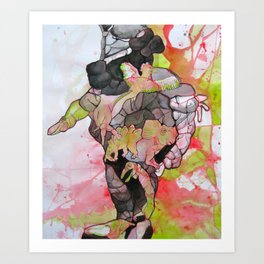 Dino-man Art Print