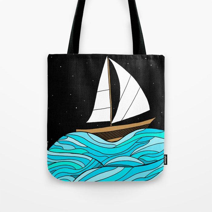 Night Sea Tote Bag