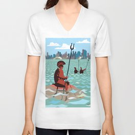 Waiting - Attack by sea Unisex V-Neck
