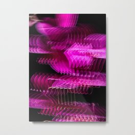 Orchid Repetition Metal Print