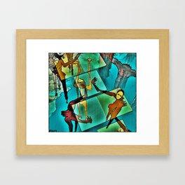 """The Adventures of Rain Dance Maggie"" Framed Art Print"